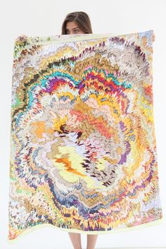 Scarf Tumbleweed Embroidery Colorful