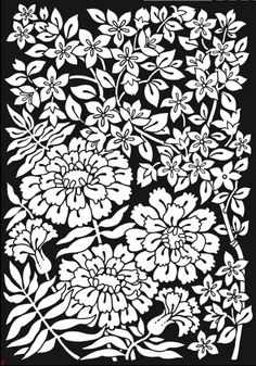Floral Fantasies Stained Glass Coloring Book, Dover Publications