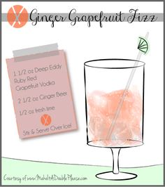 Ginger Grapefruit Fizz!! Awesome Summer cocktail with Deep Eddy Grapefruit Vodka! SO good!