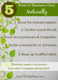 Five Steps to Treating a Cold Naturally