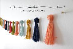 DIY mini tassel garland