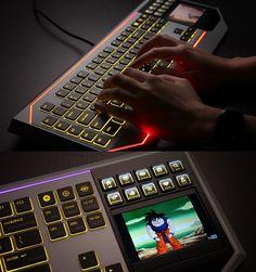 Every Geek Dream buy it at thinkgeek 300 bucks- Star Wars Keyboard With LCD Touchpad
