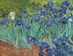 Getty announces free high res images - Van Gogh Irises #art #museums #getty