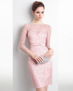 vestidos rosa palo cortos