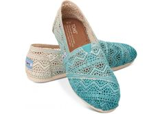 Baltic Dip-Dyed Women's #Crochet TOMS shoes