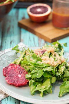 Blood Orange, Quinoa and Arugula Salad - The Girl in the Little Red Kitchen – ENJI Daily #vegan #glutenfree