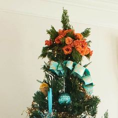 Floral tree topper