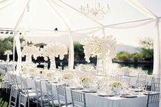 White On White Weddings | White Marquee Wedding