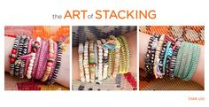 "Shop our newest collection ""the art of stacking"" www.chanluu.com/..."