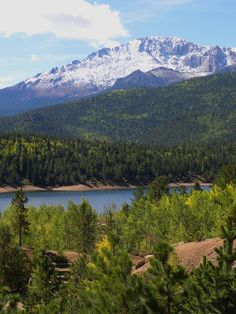 Another great view of Pikes Peak, Rocky Mountains, Colorado
