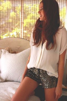 Sequined Shorts