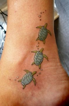 tattoos, turtles