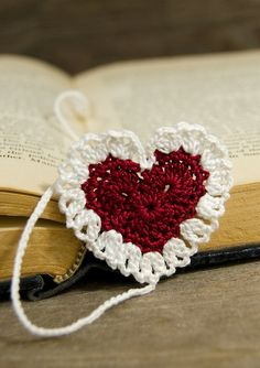 A crocheted bookmark.