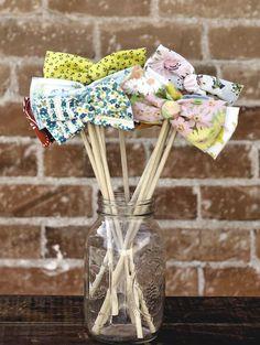 fabric bow ties :)