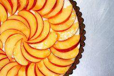 nectarine mascarpone and gingersnap tart