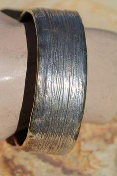 HUGE designer sterling silver gold wash bangle bracelet.