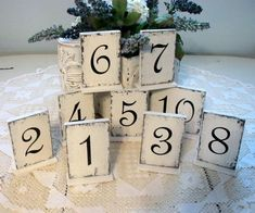 Shabby Chic Table Numbers