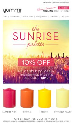 10% OFF The Sunrise Palette! Use Promo Code SR10 At Checkout