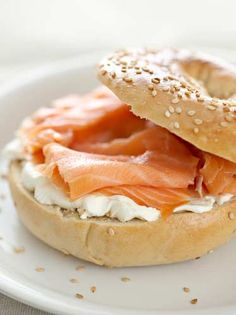 Cream Cheese & Smoked Salmon Bagel - Ana's lunch in Fifty Shades Freed page 349