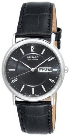 Citizen Mens BM8240-03E Eco-Drive Black Leather Watch