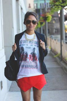 T-Shirt short, tupac shirt, dress, outfit