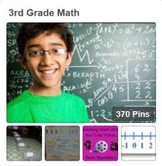 This board is a great resource for third grade math ideas.