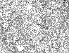 Difficult Abstract Coloring Pages | Another cute zendoodle that you can find in my ETSY store!! You're ...