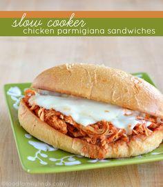 Chicken Parmesan Sandwiches - slow cooker