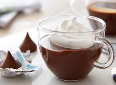 Looking for a new recipe? You'll love KISSES Milk Chocolate Pots De Creme!