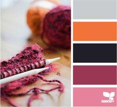 purples and orange