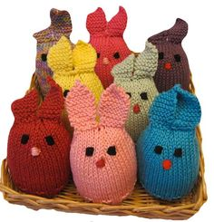 Knitted Bunnies - Free Pattern