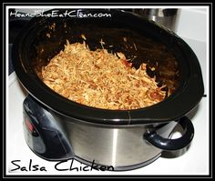 Crockpot Salsa Chicken-Healthy