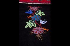 Métis beadwork closeup; beading
