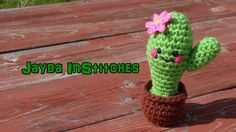 Amigurumi Cactus - Begins with a really cute stop-motion video with all her characters
