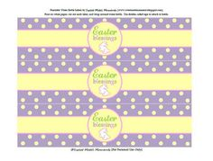 Cute Easter water bottle labels from Sweet Metel Moments