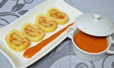 RULO DE PATATAS BRAVAS receta enviada por la usuaria de la Comunidad: DELICIAS MAYTE Patatas cocidas con salsa brava. #recetas #patatas