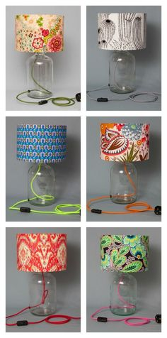 Such fun accents of color to a room and I wonder if you can fill them with interesting things too! I Spy, Humblesticks Lamps