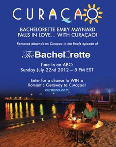 Bachelorette Emily Maynard Falls In Love Curaçao! Plus enter for a chance to WIN a Romantic Getaway to Curacao