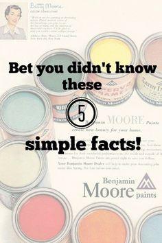 Facts about Benjamin Moore Paint - Debbiedoo's