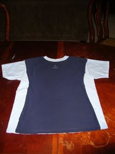Too big t-shirt to cap-sleeve fitted