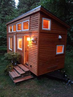 The Tiny Tea House is a beauty of a tiny house on wheels with all of the amenities (and then some) needed for small, simply living. More photos and writeup is here. http://tinyhouseblog.com/stick-built/tiny-tea-house
