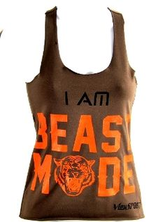 "Sweat-Activated clothing! As you sweat, the letters, ""I am a BEAST"" appear on the back!"