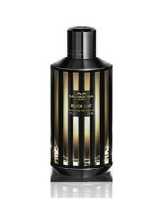 Mancera Black Line / A spicy opening reveals a heart of roses, patchouli, amber, and leather; atop white musk, sandalwood and guaiac wood.