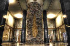 Library by Eli Vokounova  Library at Marianske Namesti in city center (Prague, Czech Republic)