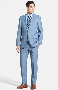 HUGO 'Astro/Hill' Extra Trim Fit Wool Blend Suit available at #Nordstrom