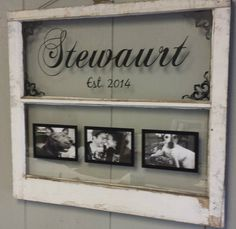Vintage Window Two Pane Family Name by VaughnCustomCreation, $75.00. Family Name. Picture Frames. Wedding. Gift. Newly Weds. Marriage. Anniversary. Established. Flourishes. Old Window. Antique Window.