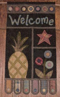 penny rugs, rug patterns, pineappl, penni rug