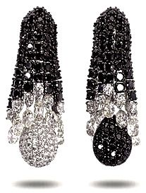 Black and White Diamond ear pendants by Boucheron
