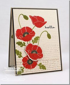 Pretty Poppies, Poppies and Leaves Die-namics - Barbara Anders