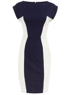 love this navy and white dress